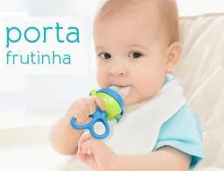 PORTA FRUTINHA  DE SILICONE AZUL