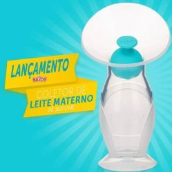COLETOR DE LEITE MATERNO EM SILICONE - NUBY