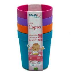 Kit Copos Infantil Pequeno 200 ml - 4 unid