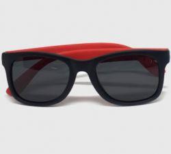 Óculos Infantil Flexível Polarizado - Preto/Vermelho