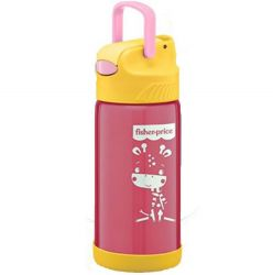 Copo térmico aço inox Fisher Price Hot Cold Rosa 400ml